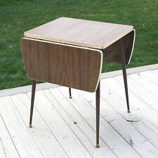 """Vtg 42"""" x 24"""" Howell Drop Leaf Diner Formica Cafe Dinette Fold Kitchen Table"""