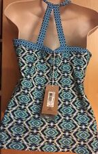 PrAna Quinn Tank Top L Blue Guava Athletic Bra Tank Size Large New With Tags