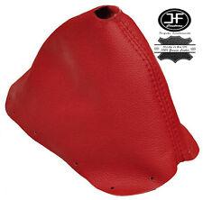 Rojo Oscuro Cuero Real ajusta 350Z 33Z 2002-2009 Arranque Polaina Cambio De Engranaje