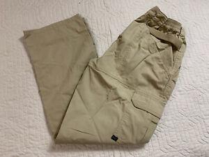 5.11 Tactical Brown Cargo Uniform Pants Double Knee Ripstop Women Size 10