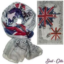 PAÑUELO Union Jack calacera calaveras Inglaterra Bufanda Gris Azul Rojo