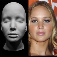 """Jennifer Lawrence Life Mask Cast Katniss""""The Hunger Games""""Mystique/Raven""""X-Men!"""