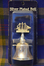 Unusual Silver Plated Bell w/USS CONSTITUTION on Handle made in Great Britan