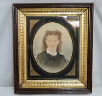 "Antique 1870s Gilt Wood Frame 13.75"" x 16""  - 80358"