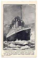 RMS Titanic Post Sinking Post Card White Star Line RMS Olympic Interest