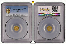 California 1873 50 Cents BG-915 Fractional GOLD PCGS MS63