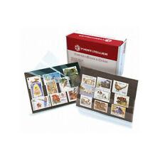 Pack de 100 cartes de classement à 3 bandes pour timbres.