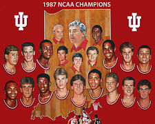 INDIANA HOOSIERS - 1987 NCAA Basketball Champs, 8x10 Color Photo