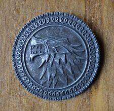 Game Of Thrones Song of Ice Fire Direwolf Badge Brooch Pin Antique Silver