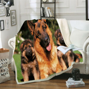 Animal  Dog 3D Print  Blanket Throw Sofa Bed Soft Warm Fleece Single Double J13