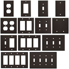 Wrinkle Brown Textured Metal Wall Plate Covers Switch Plates & Outlet Covers