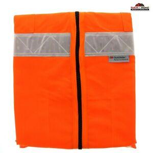 Class 2 Level 2 Hi-Vis Orange Reflective Safety Mesh Vest Large ~ New