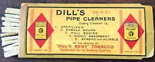 Vintage Dill's Best Tobacco Pipe Cleaners Vintage Package 5 Cents with Cleaners