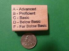Advanced/Proficient/Basic/ABCDF Teacher's Rubber Stamp