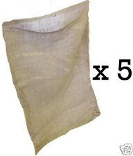 5 18x30 Burlap Bags, Burlap Sacks, Potato Sack Race Bags, Sandbags, Gunny Sack