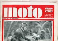 HEBDOMADAIRE MOTO VITESSE CROSS N°17. 1970.