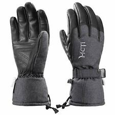 Men's Durable Leather Winter Gloves for Skiing & Snowboarding w/ Wristbands (M)