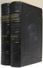 1885 1stED PERSONAL MEMOIRS OF ULYSSES S GRANT CIVIL WAR DELUXE MOROCCO BINDING