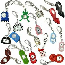 Water Resistant Watch * Great Gift * Tic-Tick Click On Key Chain Watch. Actual