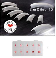 Lamour Nail Tip 10 bag Size 0-10 (50 pcs each bag) + Tip Box