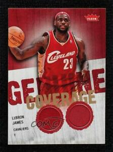 2008-09 Fleer Genuine Coverage Memorabilia Lebron James #GC-LJ