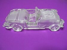 1959 CONVERTIBLE CORVETTE GLASS CAR PAPERWEIGHT  (FREE SHIPPING)