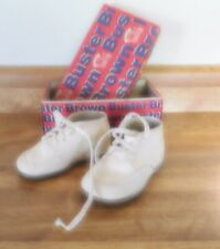 Vintage 4 Pair Baby Leather Shoes, 2 With boxes Buster Brown & Mrs. Day'sIdeal