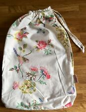 Cath Kidston Birds & Roses Chalk Drawstring Bedding Dust Bag cotton Fabric New