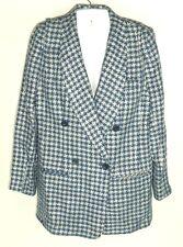 Vtg Austin Reed Blue White Plaid Women's Blazer Jacket Lined 4 S double breast