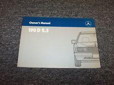 1986 Mercedes Benz 190D 2.5 Diesel Owner Owner's Operator User Guide Manual 2.5L