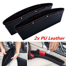 2 X PU Catch Catcher Boxes Caddy Car Seat Gap Pocket Storage Organizer Bags
