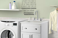 Tumble dryer, wrinkle free utility room, laundry  wall art vinyl decal sticker
