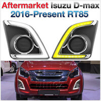 LED Daytime Running Light DRL Isuzu D-Max 2017 RT85 Kit Fog Lamp Car Foglight AT
