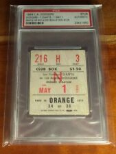 1964 Dodgers Giants Ticket PSA Don Drysdale WIN #125 Willie Mays Home Run HR 414