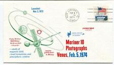 1974 Mariner 10 Photographs Venus Magnetic Field Cloud Formations Cape Canaveral