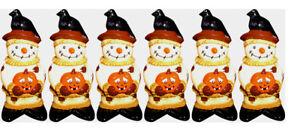 "Halloween 6.5"" Vinyl Scarecrow DOG TOY Wholesale Lot 6 pcs"
