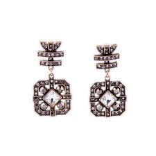 E970 Betsey Johnson Gatsby Vintage Downton Abbey Crystal Gemstone Earrings US