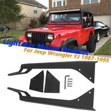 Set of 2 KC HiLiTES 7321 1976-1995 Jeep Wrangler YJ Windshield Hinge Light Mount Brackets