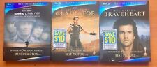 Saving Private Ryan, Braveheart, Gladiator Blu-ray Like New! Sapphire Series.