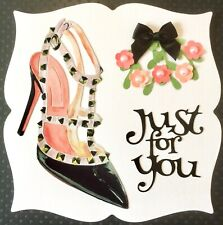 Handmade By Susie Luxury Lady's Designer Gloss Shoe Just For You Card Topper