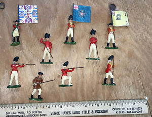9 BRITAINS  LTD England British Flag Bearer Revolutionary War Swoppet