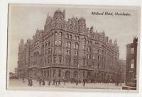 Midland Hotel Manchester Vintage Postcard Lancashire 722b