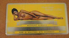 Vtg Nude African American Black Female Metal Social Security Card Aluminum Plate