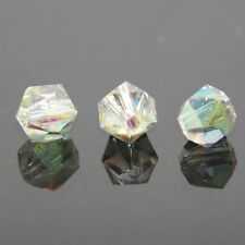 12 Pieces Swarovskii 6mm split facet Crystal bead B Rose green