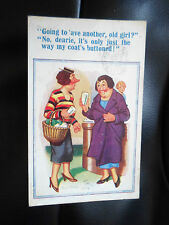 New Donald McGill Comics No 272 - Used ~ Vintage Postcard PREGNANCY HUMOUR