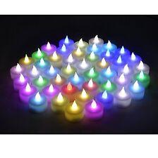 Color Changing  Flameless LED  Tealight Candles  Tea light Candle 48pcs C48
