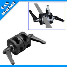 New Double Grip Head Angle Clamp for Photography Studio Boom Reflector Arm Stand