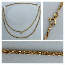 collar cadena de plata 925 bañado en oro joyería cuerda