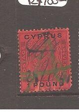 Cyprus KGV £1 SG 102 VFU fiscal use (5axt)