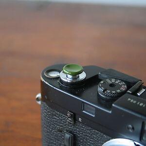 Olive Safari Medium Concave Soft Release Button for Leica MP M9 X100 Nikon Canon